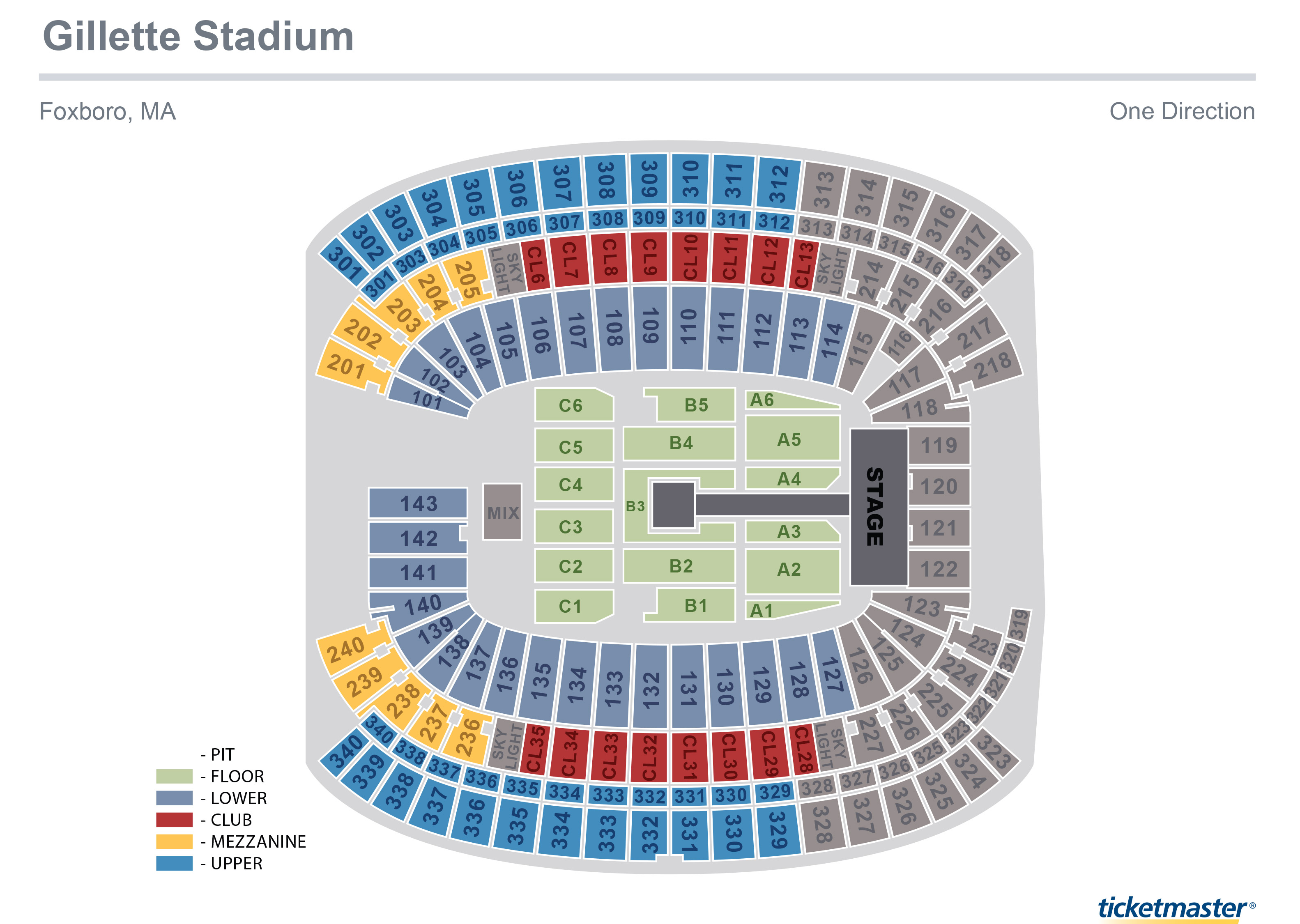 Metlife Stadium Floor Plan: Im Going To The One Direction Concert At Gillette Stadium